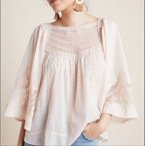 Anthroplogie White Lace Blouse
